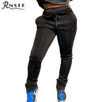 Rmsfe 2020 skinny jogger vintage fitness activo otoño pantalones completos mujeres shinny pencial pantalón sets mujeres pantalones de verano