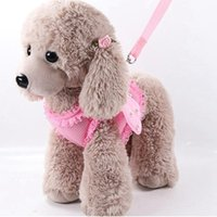 Cute Pet Harness Leashes Angel Wing Princess Puppy Pearl Adj...