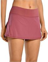 Luyogasports تنورة تنس تنورة لو اليوغا الجري الرياضية جولف تنورة منتصف الخصر مطوي تنورة الظهر الخصر جيب سستة رياضة ملابس النساء البسيطة اللباس 12