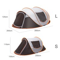 Outdoor Full-Automatic Instant Unfold Rain-Proof Tent Family Multi-Functional Portable Dampproof Camping Tent Suit