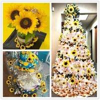 시뮬레이션 해바라기 단일 꽃 장식 결혼식 축하 홈 테이블 가짜 해바라기 인공 꽃 머리 0 1YS G2