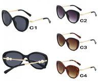 Sıcak Satış Moda Inci Tasarımcı 2039 Güneş Gözlüğü Yüksek Kalite Marka Güneş Gözlükleri Kadınlar için Gözlük Gözlük Metal Çerçeve 4 Renk