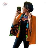 2019 Bahar Afrika Bayan Giyim Dashikis Kadınlar Için Afrika Giyim Blazer Balmumu Artı Boyutu Dashiki Kadınlar Büyük Boyları Tops WY8381