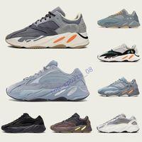 Nueva inercia 700 Wave Runner Mens Mujeres Sneakers New Hospital Azul 700 V2 imán Tephra Mejor Calidad Kanye West Sport Shoes,