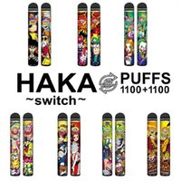 Il nuovo switch genuino HAKA 2IN1 Dispositivo di pod monouso 2 in 1 Penna VAPE System Pod 2200 Spilloni da 7 ml 950mAh Dairy Bar Stick