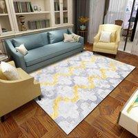 Tapetes modernos europeus geométricos geométricos tapete cinzento quarto de cabeceira tamanho grande tapete 2m largura personalizar a sala de estar tapete de piso de pelúcia
