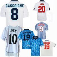 1980 1989 1990 1991 1992 1993 1996 1998 2002 England 레트로 축구 유니폼 가스코 니 Shearer 클래식 빈티지 홈 멀리 Beckham 축구 셔츠