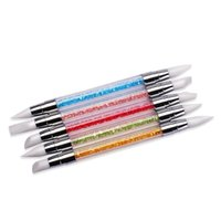 2020 Toptan-5 adet Kalem Strass Başkanı Tırnak Anil Silikon Fırçalar Akrilik Kayış Jan