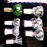 Круглая 14-вилка прозрачная пузырьковая головка, набор из курения стекла, водопроводная труба, окрашенные стеклянные аксессуары, стеклянная пробирка горелки