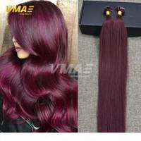 Tipo di fusione Colore di estensione dei capelli umani # 99j # 613 Bionda leggera 1G Strand 50 grammi per confezione U PIL SUGGERIMENTO Estensione dei capelli umani