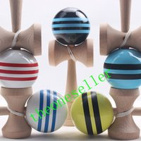 Многие цвета 18,5 см * 6 см PU Кендама мяч японские традиционные деревянные игрушечные игрушечные образовательные подарки, 180 шт. DHL Бесплатная доставка, деятельность по подаркам игрушки