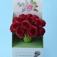 0,5 мм Новинка Творческий Красный Розовый Цветок Гель Ручки Офис Студент Свадебные Подарки Школьные Канцтовары Пишенные принадлежности