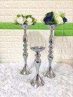 Модные цветочные шариковые центры с серебряной металлической вазой искусственной цветовой вазы для цветов свадебный стол Центральные работы