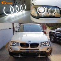BMW E83 X3 Facelift 2007 2008 2009 2010 Far Mükemmel Ultra Parlak SMD LED Melek Gözler Araba Styling DRL Gündüz Çalışan Işıklar