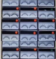 Livraison gratuite! NOUVEAU Maquillage Noir Faux Cils Faux Lashes Faux Lashes Soft Naturel Faux De faux Cils Eye Lashes Extension Tool de beauté! (10pcs / lot)