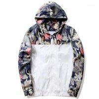 Jaquetas masculinas gota florais Bomber jaqueta homens hip hop slim fit flores piloto casaco homens com capuz US tamanho 1