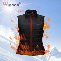 Isıtma Yelek USB Şarj Yıkanabilir Isıtma Ceket Giyim Yelek Sıcak Kadın Adam Açık Kamp Kayak Isıtmalı Yelek Y201123