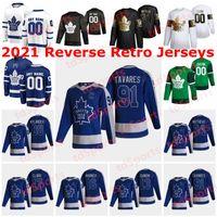 토론토 메이플 leafs 2021 Reverse Retro Hockey Jerseys ilya Mikheyev Trevor Moore William Nylander Nic Petan Nicholas Shore 사용자 정의 스티치
