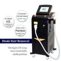 2021 Профессиональная лазерная машина для удаления волос Тройная длина волны 755 нм + 808 нм + 1064 нм верхние волосы для губ Removel CE одобренные CE