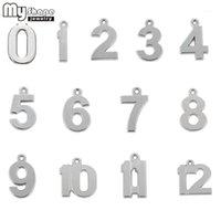 Charms entier Sale0-12 Numéros Parmi lesquels choisir d'Antiquités Silver Placez votre numéro de chanceux DIY Pendentif flottant 0 1 2 3 4 5 6 7 8 9 10 11 121