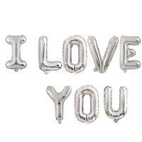 18 в я люблю тебя письмо фольга шар свадьбы свадьба валентина юбилей дня рождения украшения вечеринки украшения шампанского чашки фото стенд реквизит CCE4282