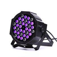 Partihandel U'King 72W ZQ-B193B-YK-US 36-LED Purple Light Stage Light DJ KTV PUB LED-effekt Ljus högkvalitativ scenlampor Voice Control