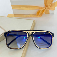 Z1086 Men and Women Sunglasses New Fashion Square Simple Style UV Protection 400 Lens Coating Mirror Lens Color Electroplating Frame 1086
