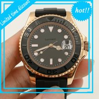 Lucury Rubber Oysterflex Strap Yacht Ceramic Bezel Mens Rose Gold Luxury Reloj Master Wristwatches Watch