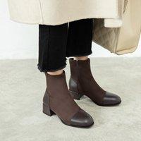 Горячая Продажа MBR FORCE Winter 2020 новые замшевые ботинки вскользь подкладка плюш дикая круглая голова теплая утолщенной высокая пятка короткие сапоги дадут