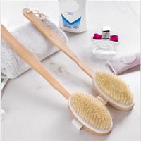 Banho oval de madeira escova natural massagem massagem banho chuveiro escova macia escova spa escovas de corpo hha1693