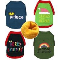 Roupas de cães quentes Velvet Plus Pet Sweater carta impressa Cachorrinho Casaco de Natal Cães de Natal Outwear Inverno Pet Supplies 13 Designs YG951