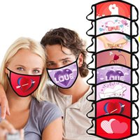 Reusable Valentine' s Day Mask Cupid Love Hug Printing M...