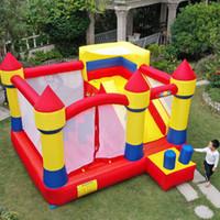 Jardim Home Use Bounce House Brinquedos Alta Qualidade Crianças Castelo Bouncy Inflável com Slide Free Bound