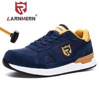 Ларнмин Работа Безопасная обувь для мужчин Женщины Стальные ноги легкие дышащие SRC нескользящие S1 промышленные туфли черный красный синий серый 201223