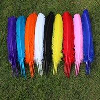 100 pcs por atacado 25-30cm cor de cor mista real real peru natural penas praças extensões de cabelo penas de ganso para venda