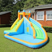Wet OrDry Inflatable Slide Garden Supplie Bounce House Jumper Slides Park Combo For Kids Outdoor Party Water Parks With Spray Summer Play Games Gift Present