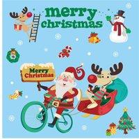 ديكور عيد الميلاد ملصقات عطلة التسوق مول متجر الباب ملصق الزجاج الديكور ثابت ملصق الجو الملونة الحلي vtky2073