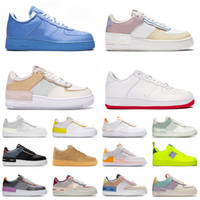 airforce one shadow af1 force 1 off white New arrival platform dunk 1 running sport shoes photon dust crimson tint spruce aura shadow one mens womens triple white trainers 운동화