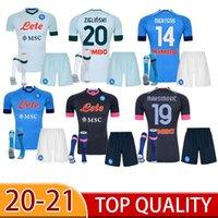 20 21 Napoli Fußball-Trikots Neapel Calcio Maradona Koulibaly Ossimen Insignente Mertens H.Lozano Maillots Erwachsener + Kinder Kit Fussball Hemden