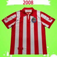 Retrô 2009 2009 Chivas Guadalajara futebol jerseys 08 09 Vintage clássico camisas de futebol antique coleção uniformes home vermelho