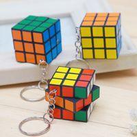 Mind Wild Keychain Männer Frauen Rubik's Cube Keychain Dritter Rubik's Cube Key Anhänger Hadeln Kinder Kinder Schlüsselanhänger Schneller Versand
