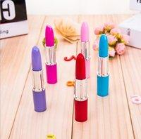 Rouge à lèvres mignon Stylos à bille Kawaii bonbons couleur stylo à bille en plastique nouveauté Stationery article