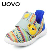 Uovo детская обувь малыш мальчики и девочки повседневные туфли весна дышащая маленькая детская обувь крючок и петли размер 22 # -30 # 201201