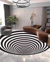 Ковры для дома украшения для дома для гостиной коридоров черная белая сетка принт 3D иллюзия и для журнального стола
