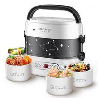 الذكية الغداء المربع الذكية طباخ الأرز الصغيرة طبقة مزدوجة التدفئة التلقائي السيراميك بطانة الذكية اللمس LCD موعد موعد توقيت 1
