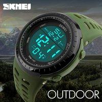 Marka Lüks Erkek Spor Saatler Dalış 50 M Dijital LED Askeri İzle Erkekler Moda Rahat Elektronik Saatı Adam Saati