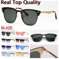Design de lunettes de soleil design Blaze Design pour lunettes de soleil pour hommes Lunettes de soleil Sunglasses UV Protéger des lentilles en cuir, tissu, tous les accessoires de paquet de détail!
