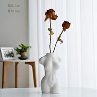 크리 에이 티브 장식 인체 꽃병 세라믹 꽃병 노르딕 홈 장식 바디 아트 조각 꽃꽂이 선물