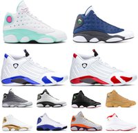 2020 Suede Toe 13s sapatos Court Wolf New Sneakers Playground Mens Vestido Verde Aurora 2020 Soar 14s Basquetebol Thunder Multi