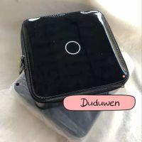 15x15x4.5cm Scatola di gioielli di moda Circel C Pattern Glossy Storage Case Case Classic Trucco ComSetics Borsa di stoccaggio